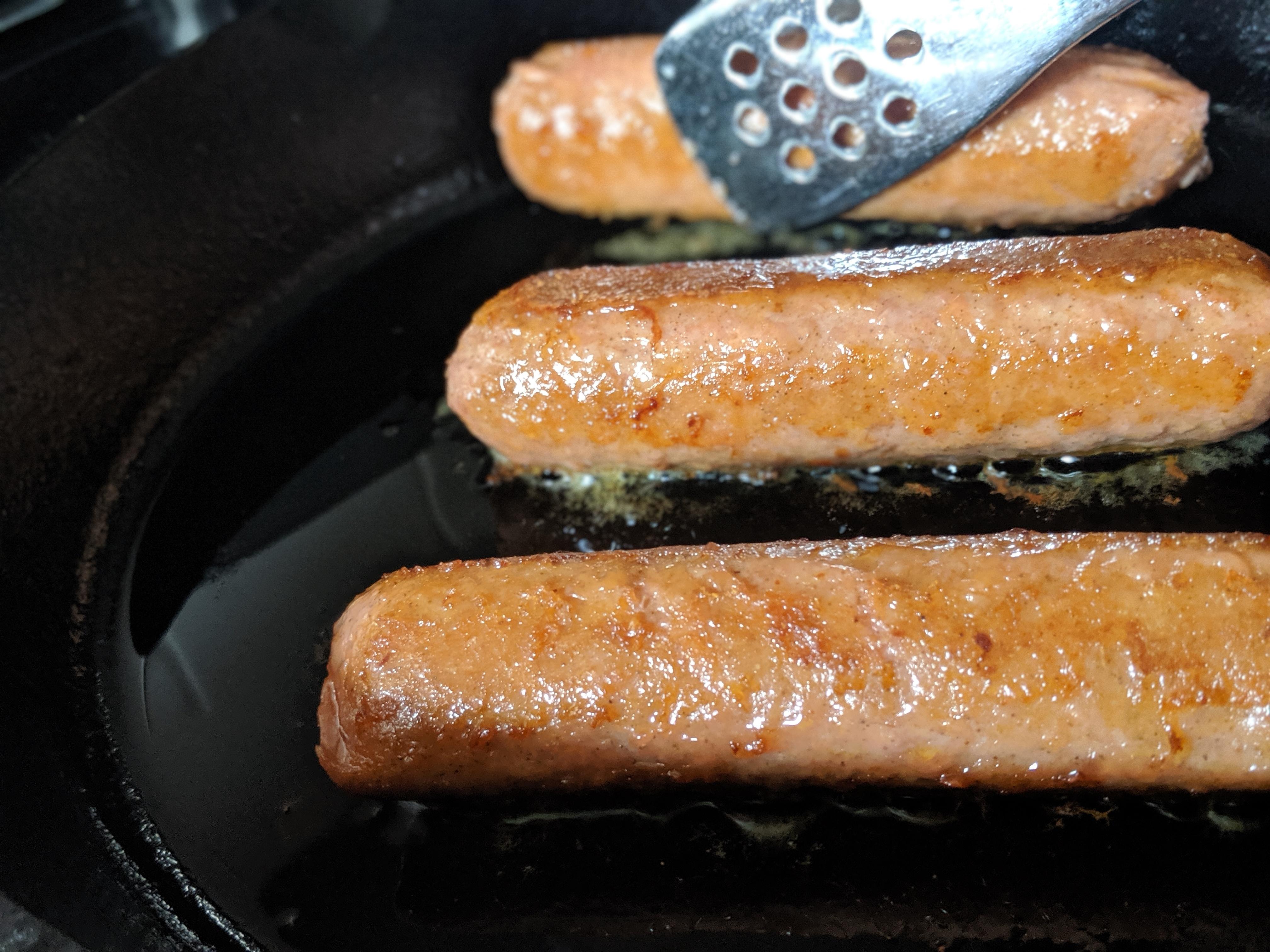 Cooking Beyond Meat Brat Sausage