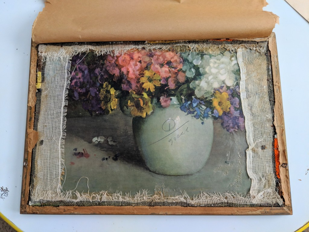 how to reuse old picture frame